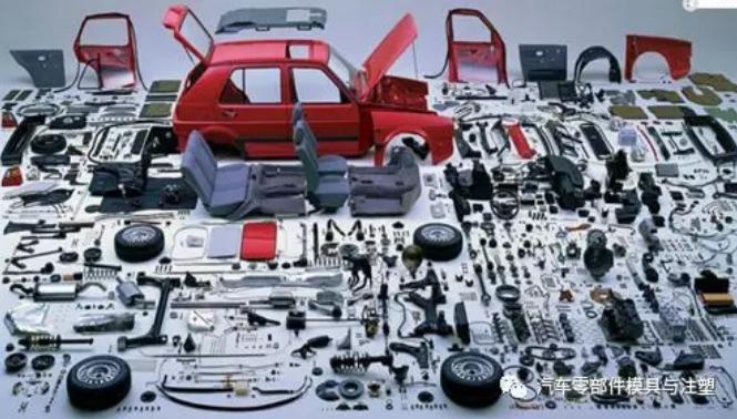 数量众多的汽车零部件